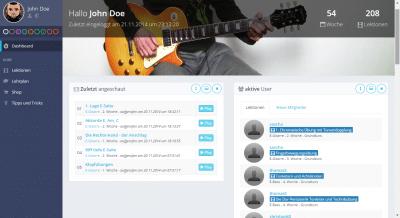 E- Gitarre lernen - der Schulungsbereich